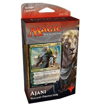 Thinking Toys Magic the Gathering: Aether Revolt Planeswalker Deck – Ajani, Valiant Protector (Includes 2 Booster Packs)