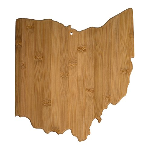 Totally Bamboo 20-7956OH Ohio State Shaped Bamboo Serving & Cutting Board from Totally Bamboo
