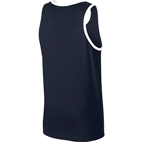 Nike Heren Ace Logo Tanktop Obsidiaan Blauw / Wit