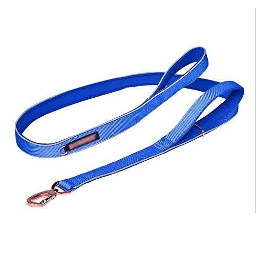 bluee SDog Chain, Dog Leash Pet Supplies Dog Belt Dazhong Xiaojin Retriever Dog Chain Nylon Dog Straps (color   Purple, Size   L) (color   Purple, Size   S)