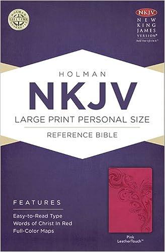 NKJV Large Print Personal Size Reference Bible, Pink