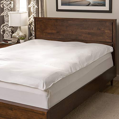 National Sleep Products Super Snooze 5-inch 230 Thread Count Baffled Featherbed Set - White Queen