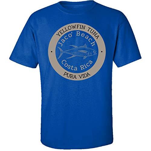 KewlCover Jaco, Costa Rica Sportfishing Yellowfin Tuna - Adult Shirt 3XL Royal