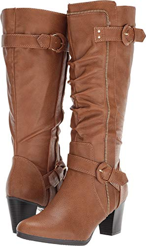 Flame Knee Boot - RIALTO Women's Flame Cognac/Smooth 9 B US