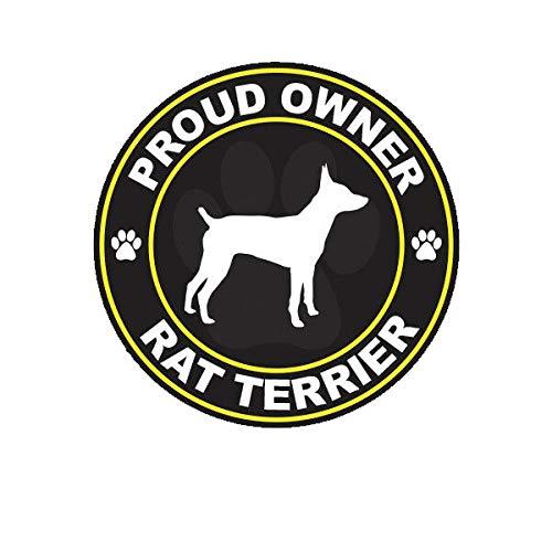 Morgan Graphics Proud Owner Rat Terrier Sticker Decal Vinyl Dog Canine pet Vinyl Decal Sticker Car Waterproof Car Decal Bumper Sticker -