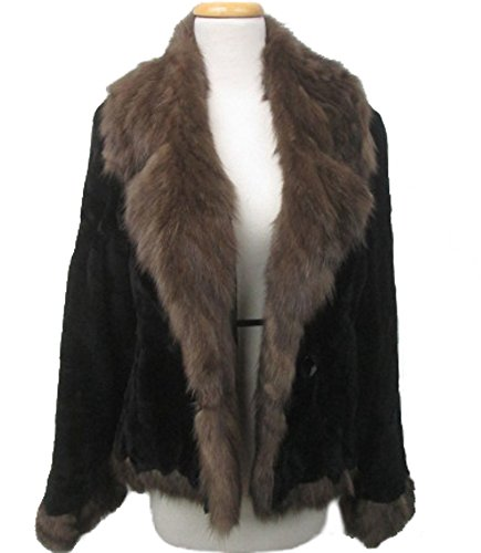 Women's Sz 8 New Brown Sheared MInk Fur Coat Jacket Stroller with SABLE Fur