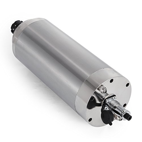 Mophorn Spindle Motor 4.5KW Square Water Cooled Spindle Motor ER25 Collect 18000RPM 380V CNC Spindle Motor for CNC Router Engraving Milling Machine (4.5KW Water Cooled)