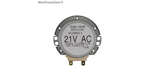 Amazon.com: newpowergear microondas Turntable Motor de ...