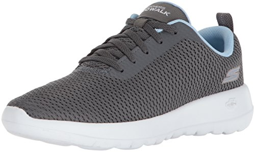- Skechers Women's GO Walk Joy-Paradise Sneaker,gray/blue,9 M US
