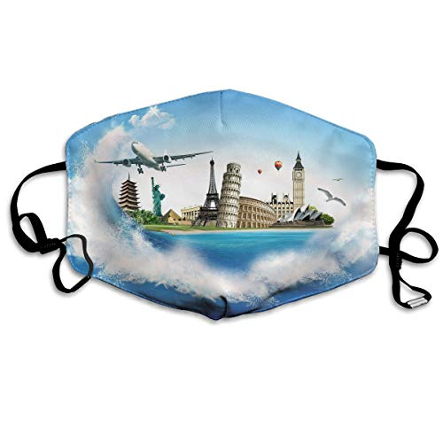 Sam-Uncle Anti Dust Face Mouth Cover Mask Plane Famous Buildings Anti Pollution Breath Healthy -
