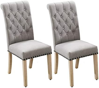 Luxuriour Fabric Dining Chairs,Pekko Kitchen Chairs Room Chair