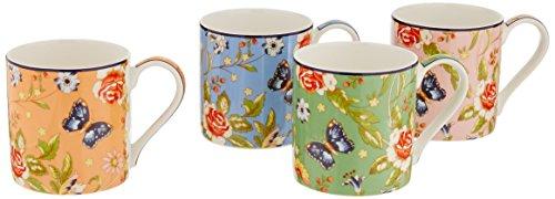 (Belleek Cottage Garden Mugs (Set of 4), Multicolor)