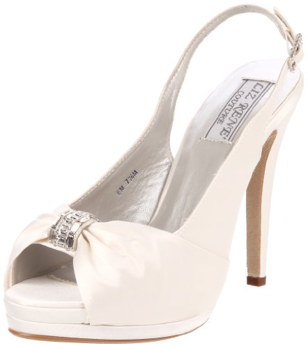 Women's Pump Platform Silk Rene Silk Couture White White Liz Satin Danielle ExOqnF