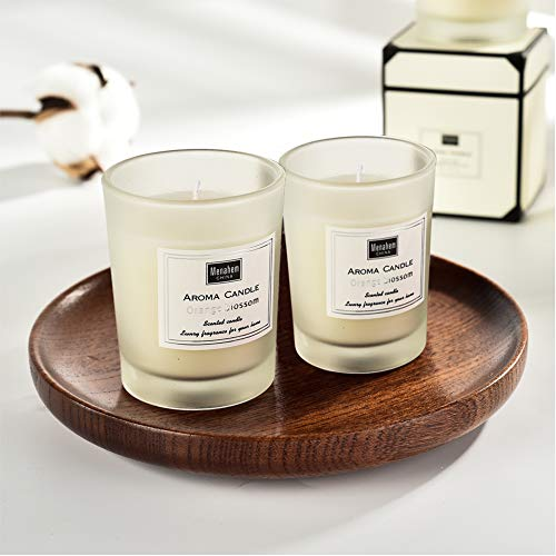 KEYI Scented Candles-(English Pear & Freesia) for Stress Relief and Aromatherapy,100% Natural Soy Wax and Organic Candles Made- 2 Pack ()
