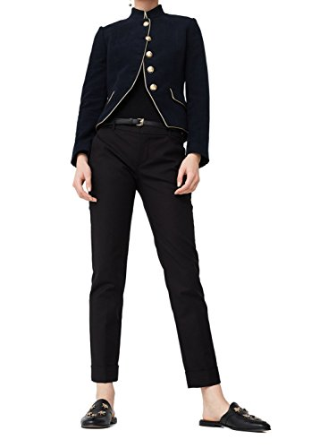Mango Women's Cotton Suit Trousers, Black, 8