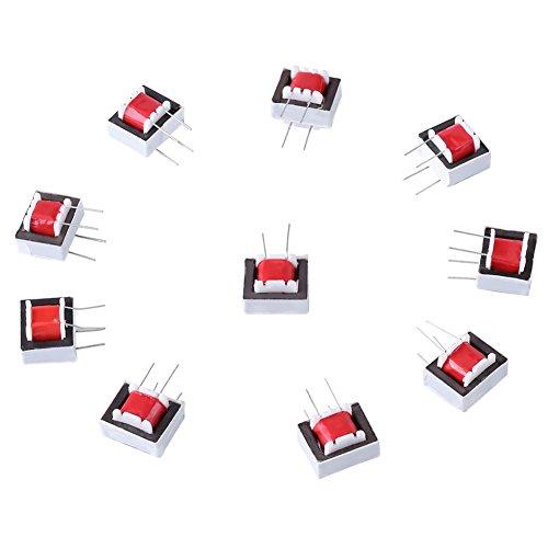 10 Pcs/Pack 600 : 600 Ohm 1:1 EI14 Isolation Transformer Audio Transformers