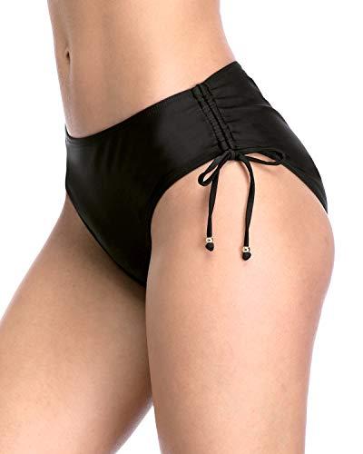 Charmo Womens Black Swim Bottoms Swimsuits Bikini Bottoms Ladies Swim Briefs XL