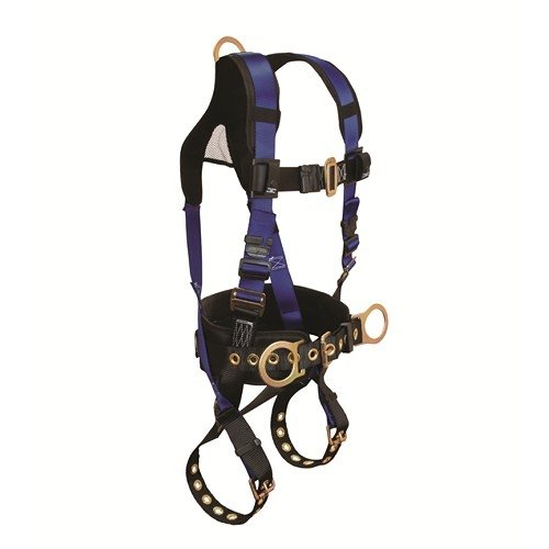 FallTech 7073B2X, Contractor Plus Belted Body Harness, XXL, 3 D-Rings, Buckle Legs and Chest, Pack of 2 pcs -
