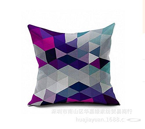 Lyn? Cotton Linen Square Throw Pillow Case Decorative Cushio