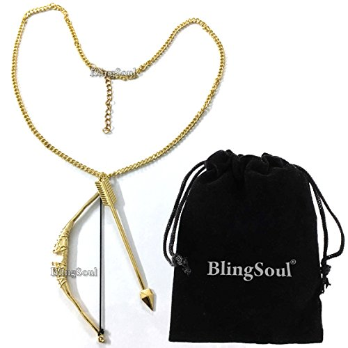 Bow and Arrow Necklace Jewelry by BlingSoul - Halloween Costume Cosplay Merchandise