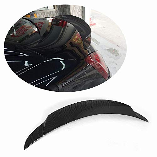 (MCARCAR KIT Trunk Spoiler fits Infiniti G37 Q60 Hard-top Coupe 2008-2015 Carbon Fiber Rear Boot Lid Highkick Duckbill Spoiler Wing Lip (Without Camera Hole, Carbon Fiber) )