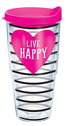 Tervis Tumbler Live Happy Heart Wrap 24oz with Travel Lid by Tervis