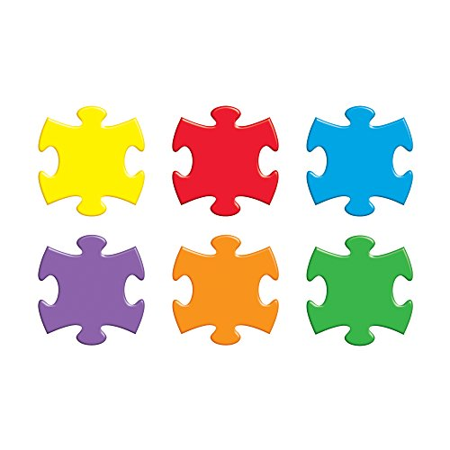 TREND enterprises, Inc. Puzzle Pieces Classic Accents Variety Pack, 36 ct