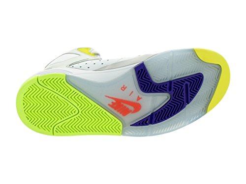 Air Flight Lite Alto Bianco / mtllc SLVR / iper Grp / hpr scarpa da basket 10.5 Us