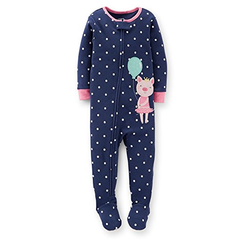 Carter's Baby Girls 1 Piece Snug Fit Cotton Pajamas (pig) (12 Months)