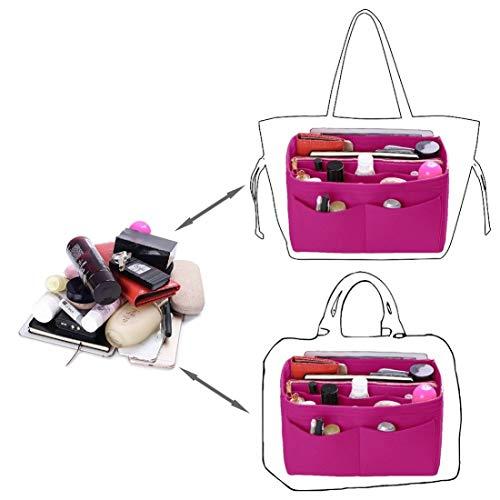 6fe093efc ... Fit Purse Organizer Insert, Felt Bag organizer with zipper, Handbag &  Tote Shaper, ...