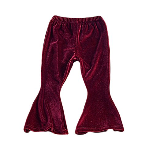 Gypsy Girl Outfits (Birdfly Toddler Girls Velvet Velour Flare Pants Gypsy Stylish Leggings Children Kids Bottom Fall Outfits (18M, Violet))
