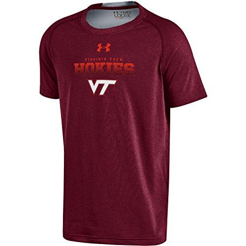 Under Armour NCAA Virginia Tech Hokies Boys Charged Cotton Short Sleeve Tee, Large, ()
