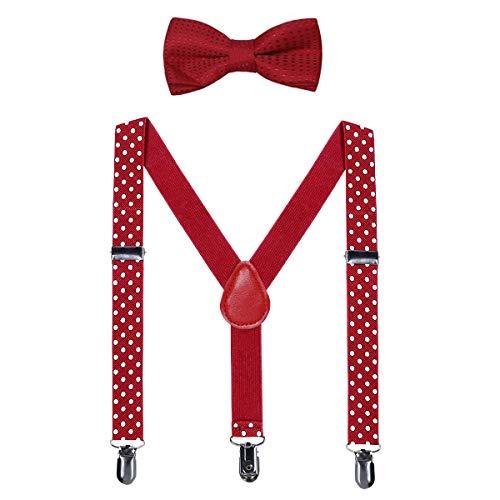 Kids Suspender Bow Tie Sets - Adjustable Braces