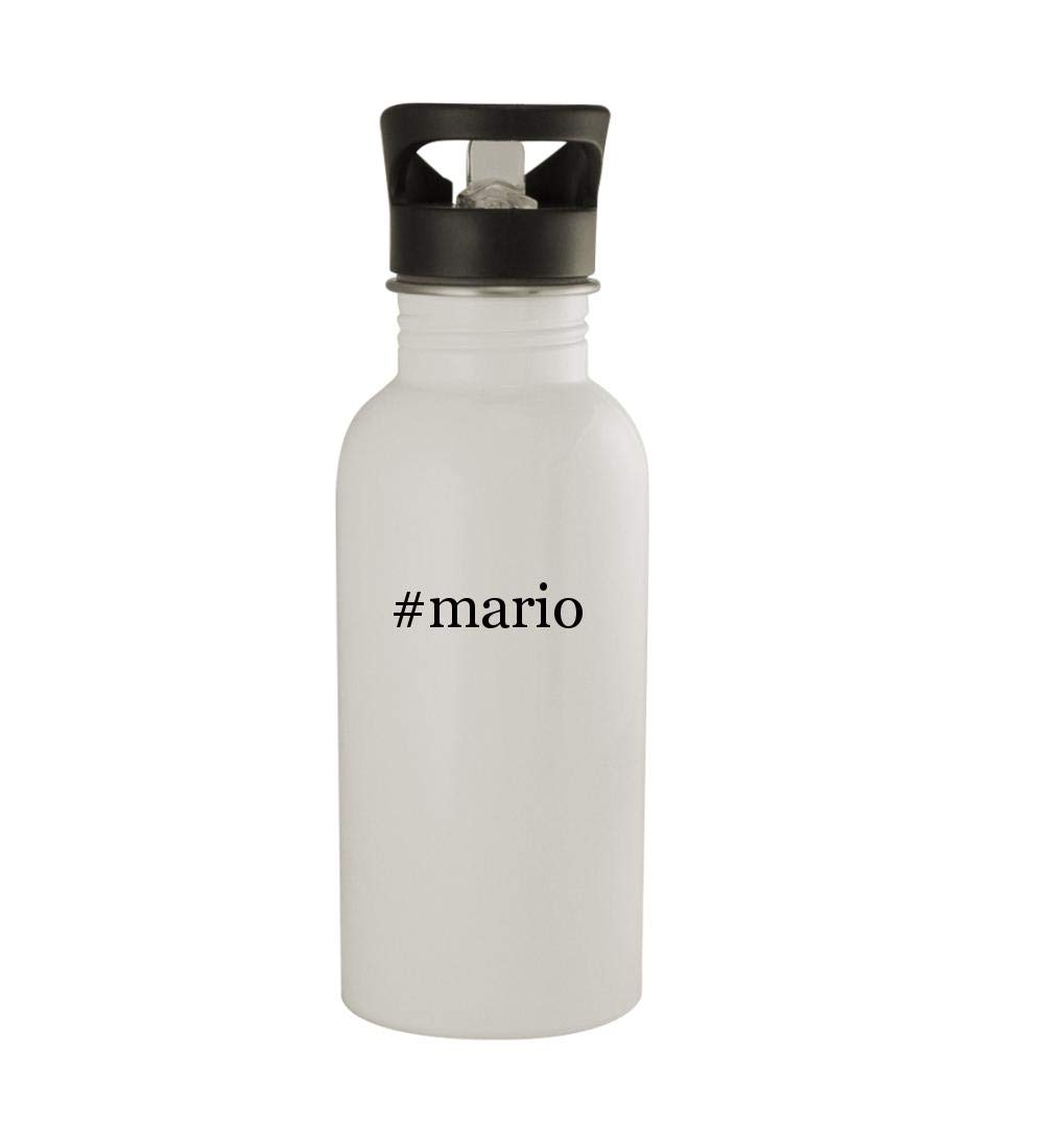 Knick Knack Gifts #Mario - 20oz Sturdy Hashtag Stainless Steel Water Bottle