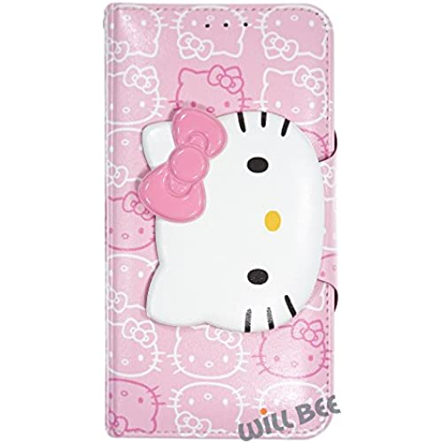 Samsung Galaxy S7 Edge (5.5inch) Case HELLO KITTY Cute Diary Wallet Flip Synthetic Leather Anti-Shock Cover (Face Sales