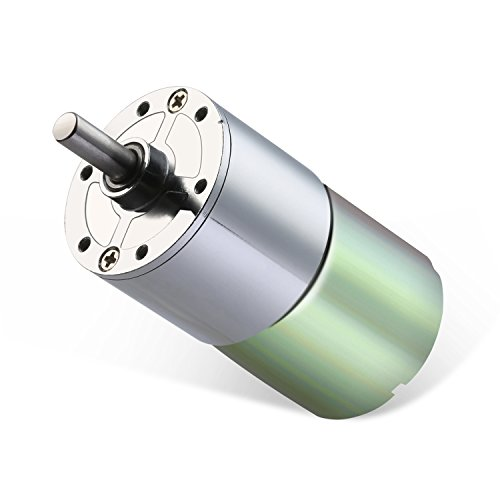 Greartisan DC 12V 100RPM Gear Motor High Torque Electric Micro Speed Reduction Geared Motor Centric Output Shaft 37mm Diameter Gearbox (Low Rpm Motor Dc)
