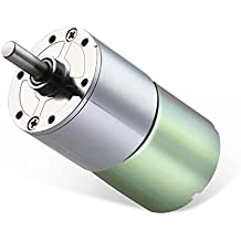 Greartisan DC 12V 200RPM Gear Motor High Torque Electric Micro Speed Reduction Geared Motor Centric Output Shaft 37mm Diameter Gearbox