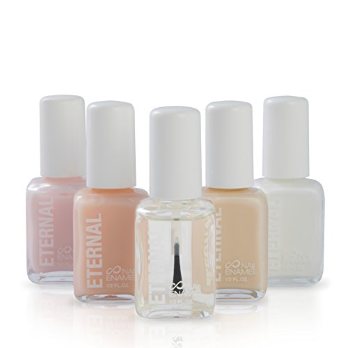 Eternal 5 Collection - 5 Pieces Set: Long Lasting, Quick Dry, Bright, Nude or Sheer Nail (Nude Coral)
