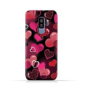 Samsung Galaxy S9 Plus TPU Protective Silicone Case with Valentine Hearts Seamless Pattern Design