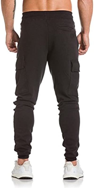 Celucke męskie spodnie do biegania typu cargo Slim Fit, męskie spodnie do biegania w stylu skinny chinos modne spodnie do noszenia w czasie wolnym wygodne spodnie: Odzież