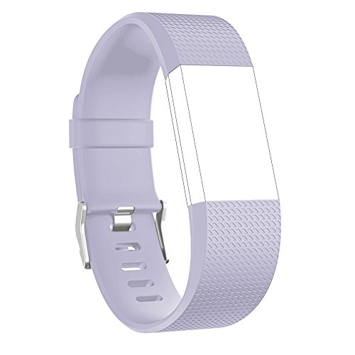 Price comparison product image Fitbit Charge 2 Replacement Elastomer Bands, RedTaro Accessories Fitbit Charge 2 Heart Rate Fitness Wristbands Small Lavender