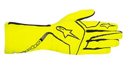 Alpinestars 3552017-551-XL TECH 1-K RACE GLOVES, YELLOW FLUORESCENT, SIZE XL (PR)