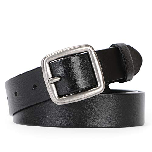 Women Leather Belt for Jeans Pants Plus Size Casual Ladies Belt with Alloy Square Buckle By ()