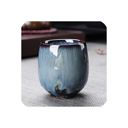 150Ml Creative Teacup Ceramic Kiln Change Art Cup Office Master Espresso Coffee Mug Tea Cups Drinkware Teaware Crafts Decor Gift,C