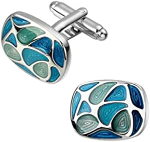 blue cuff links for men