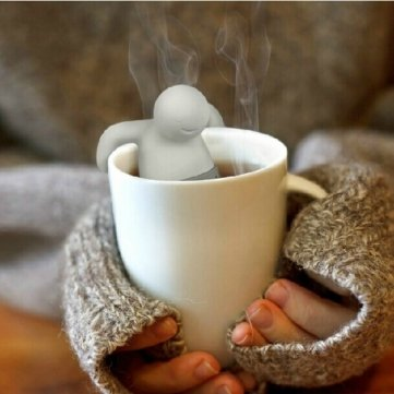 Man Friday Mr Tea Infuser Silicone Herbal Tea Strainer Filter MF MF1396634