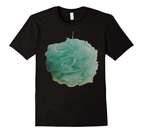 Mens Loofah Bath Shower Sponge Costume T-Shirt Large Black - Loofah Costume Halloween