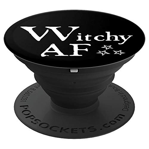 Witchy AF - Black - PopSockets Grip and Stand for Phones and Tablets -