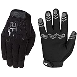 Seibertron Anti Grip Unweighted Basketball Gloves Ball Handling Gloves (Basketball Training Aid) Or Driving Gloves Black M