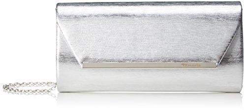 Tamaris - Nilla Clutch Bag, Carteras de mano Mujer, Silber (Silver), 5x10,5x24 cm (B x H T)